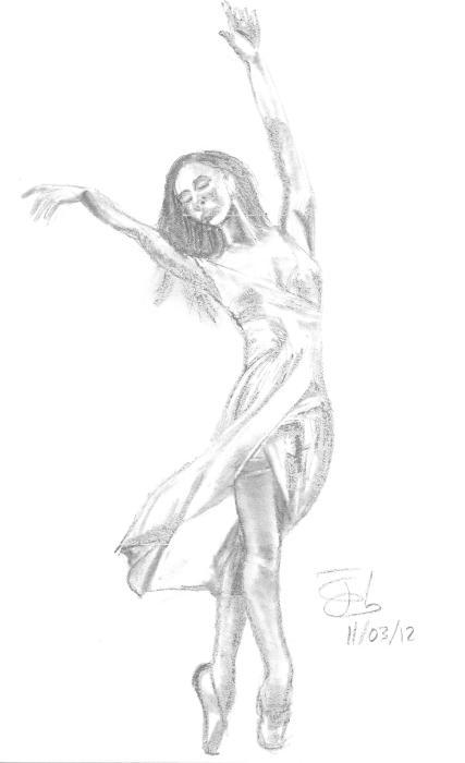 Bailarina de puntillas