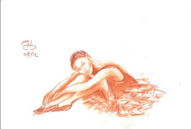 Boceto para bailarina