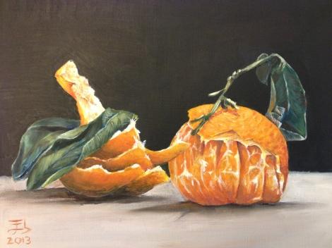 Vanitas de naranja / Vanitas in orange