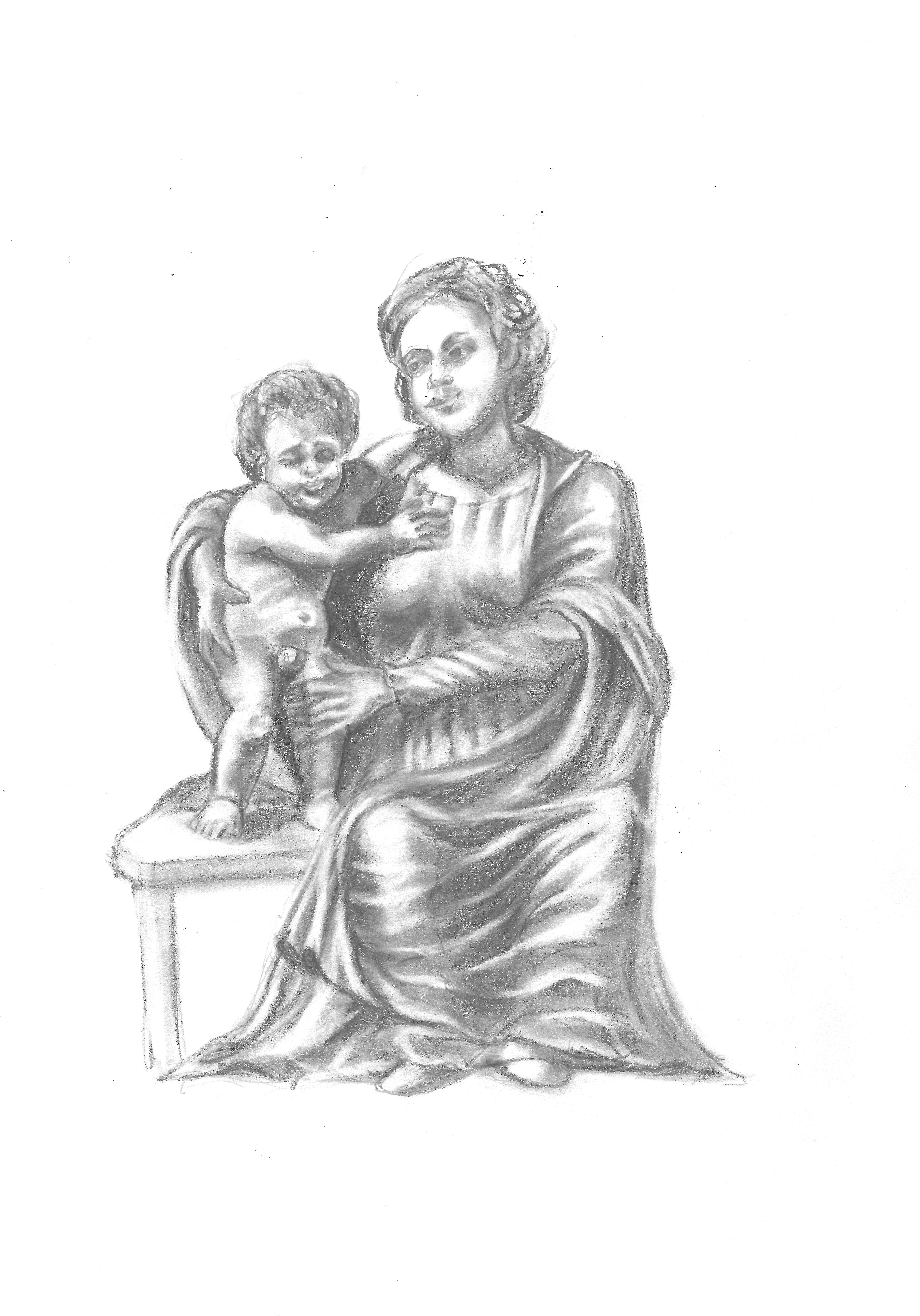 La Virgen del puchero / Madonna with pouting Child