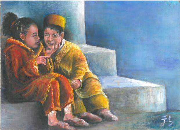 Dos niños hablando de las prejubilaciones de sus padres