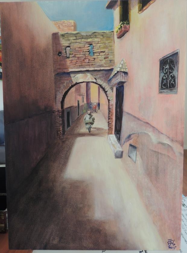 La única calle solitaria del zoco de Marrakech / The only lonely street in Marrakesh's Zouk