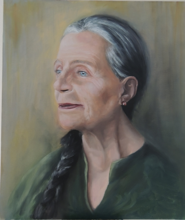 Retrato de anciana con ojos azules / Portrait of a blue-eyed old lady