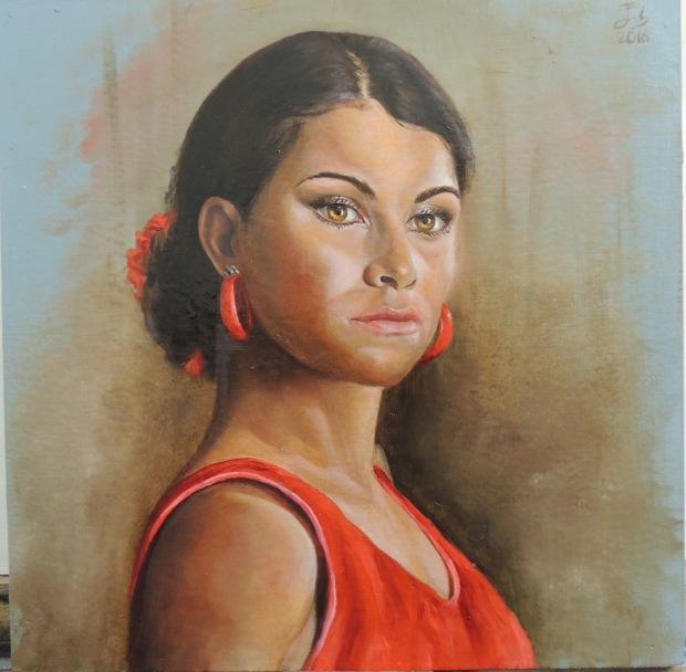 Serie 900 cm2 nº 2: La bailaora / Series 900 cm2 nº 2: Flamenco dancer